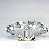 Украшения handmade. Livemaster - original item A rim made of beads and stones (Agate, Kakholong, Cat`s eye). Handmade.