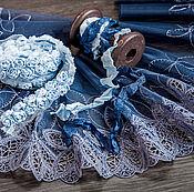 Материалы для творчества ручной работы. Ярмарка Мастеров - ручная работа Кружевной набор 400 вышивка на сетке шебби ленты набор с кружевом. Handmade.