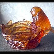 """Для дома и интерьера ручной работы. Ярмарка Мастеров - ручная работа Розетка для колец """" Гнездо"""" из цветного стекла.. Handmade."""