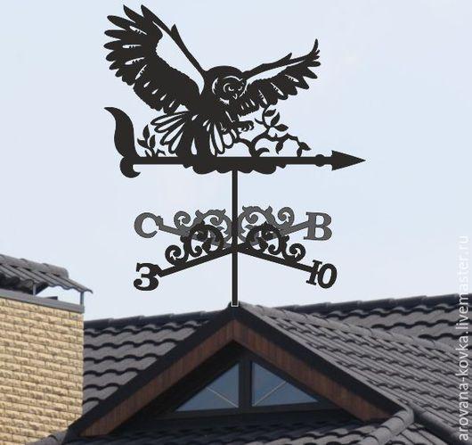 """Экстерьер и дача ручной работы. Ярмарка Мастеров - ручная работа. Купить Флюгер на крышу """"Сова"""". Handmade. Черный, флюгер"""