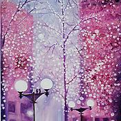 Картины и панно ручной работы. Ярмарка Мастеров - ручная работа Картина Прогулка в парке. Handmade.