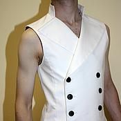 Одежда handmade. Livemaster - original item Double-breasted men`s vest. Handmade.