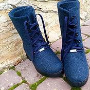 Обувь ручной работы. Ярмарка Мастеров - ручная работа Сапожки зимние на полную ногу с высоким подъемом Ивановна. Handmade.