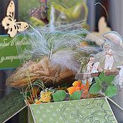 """Открытки ручной работы. Ярмарка Мастеров - ручная работа Открытка """"Маленькая моя..."""" pop-up box. Handmade."""
