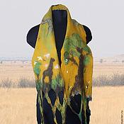 Аксессуары handmade. Livemaster - original item scarf felted Savannah. Handmade.