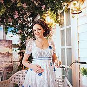 Одежда ручной работы. Ярмарка Мастеров - ручная работа Платье с васильками. Handmade.