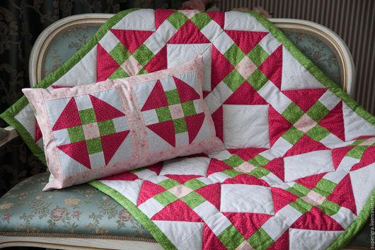 Пледы и одеяла ручной работы. Ярмарка Мастеров - ручная работа. Купить Лоскутное одеяло детское. Handmade. Разноцветный, лоскутное одеяло