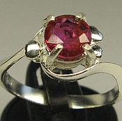 рубин 1.27 кар. необработанный натуральный  & кольцо серебро 925 пробы