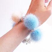 handmade. Livemaster - original item Blue Mink Chain Bracelet. Handmade.