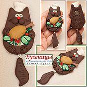 Сувениры и подарки ручной работы. Ярмарка Мастеров - ручная работа ШЕФ !!! кот повар с курочкой. Handmade.