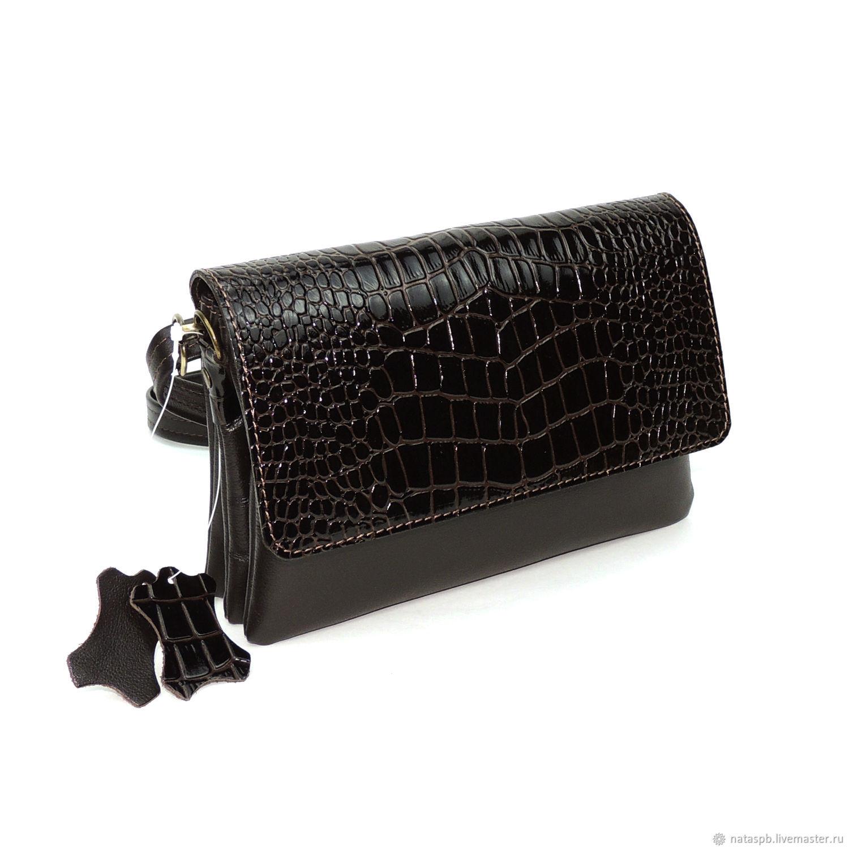 Women's leather bag brown Bark, Classic Bag, St. Petersburg,  Фото №1