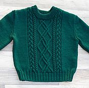 Одежда ручной работы. Ярмарка Мастеров - ручная работа короткий свитер Маша. Handmade.