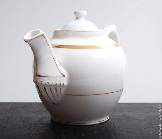 Винтажная посуда. Ярмарка Мастеров - ручная работа. Купить Фарфоровый чайник, заварник Кузнецов, старинный фарфор, деколь. Handmade. Белый