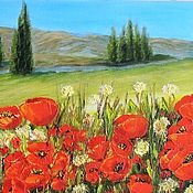 Картины и панно handmade. Livemaster - original item Crimea: Poppies Oil Painting. Handmade.