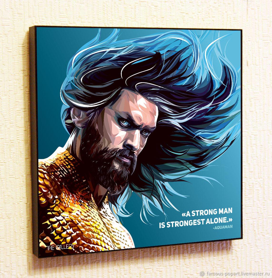 Picture Poster Aquaman Comics DC justice League Pop Art, Fine art photographs, Moscow,  Фото №1