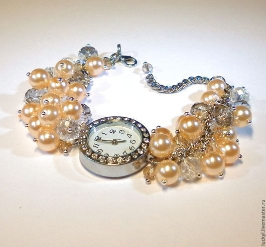 "Часы ручной работы. Ярмарка Мастеров - ручная работа. Купить Часы-браслет ""Самая нежная"" (женские часы, наручные часы). Handmade."