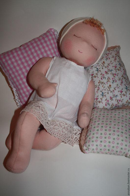 """Вальдорфская игрушка ручной работы. Ярмарка Мастеров - ручная работа. Купить Младенец """"Молочные сны:)"""". Handmade. Бежевый, вальдорфская кукла"""
