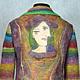 """Пиджаки, жакеты ручной работы. Ярмарка Мастеров - ручная работа. Купить жакет валяный комбинированный """"Пикассо и Норо"""".. Handmade. Разноцветный"""