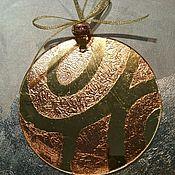 handmade. Livemaster - original item Author`s Christmas toy suspension of glass gold color. Handmade.