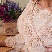 Одежда ручной работы. Ярмарка Мастеров - ручная работа Пенюар и ночная рубашка Нежность. Handmade.