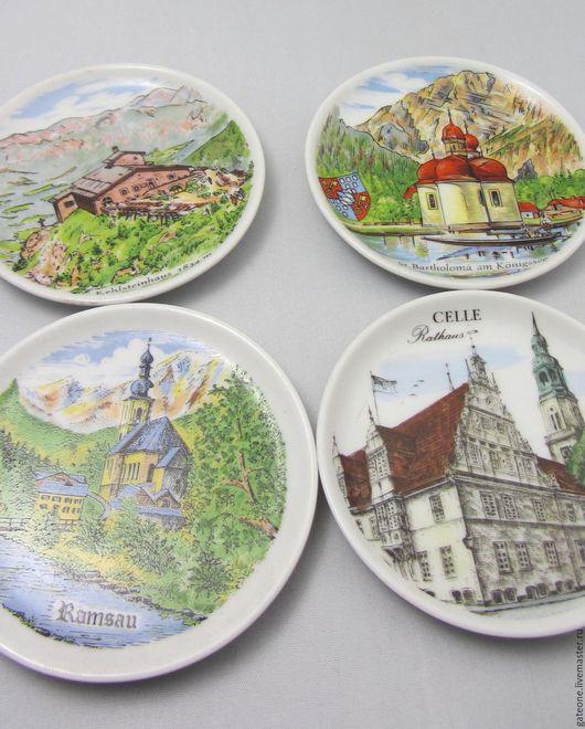 Винтажная посуда. Ярмарка Мастеров - ручная работа. Купить Керамические подставки Германия. Handmade. Комбинированный, германия