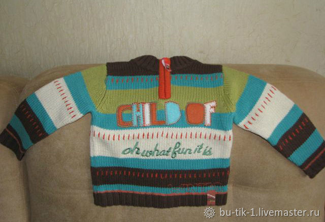 Colorful bright sweater for boy Akr size 98, Vintage clothing, Moscow,  Фото №1