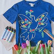Одежда handmade. Livemaster - original item children`s t-shirts Dove of Peace. Handmade.