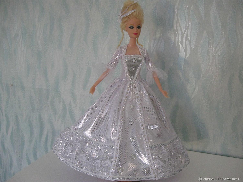 """Платье для Барби  """"Серебристая точка"""", Одежда для кукол, Миасс,  Фото №1"""