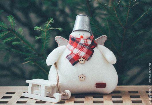 Новый год 2017 ручной работы. Ярмарка Мастеров - ручная работа. Купить Снеговик Тильда. Handmade. Белый, снеговичок, снеговик игрушка