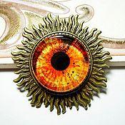 """Украшения ручной работы. Ярмарка Мастеров - ручная работа Брошка """"Глаз"""" - огненный. Handmade."""