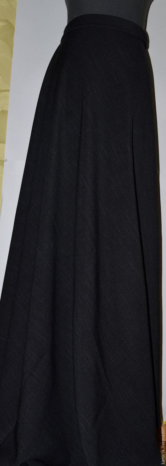Юбки ручной работы. Ярмарка Мастеров - ручная работа. Купить Коричнево черная . юбка меж сезон. Handmade. Юбка