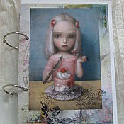 Подарки к праздникам handmade. Livemaster - original item Copy of Copy of Notepad Wonderland. Handmade.