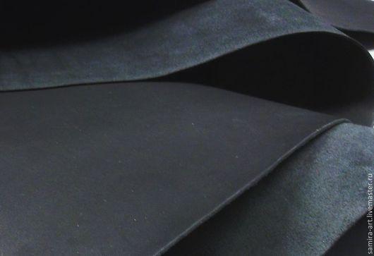 Шитье ручной работы. Ярмарка Мастеров - ручная работа. Купить Краст Юфть 2.1-2.5мм. Handmade. Черный