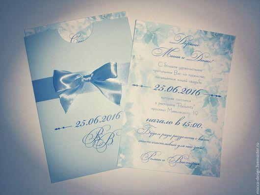 Свадебное приглашение `Небесный сад`