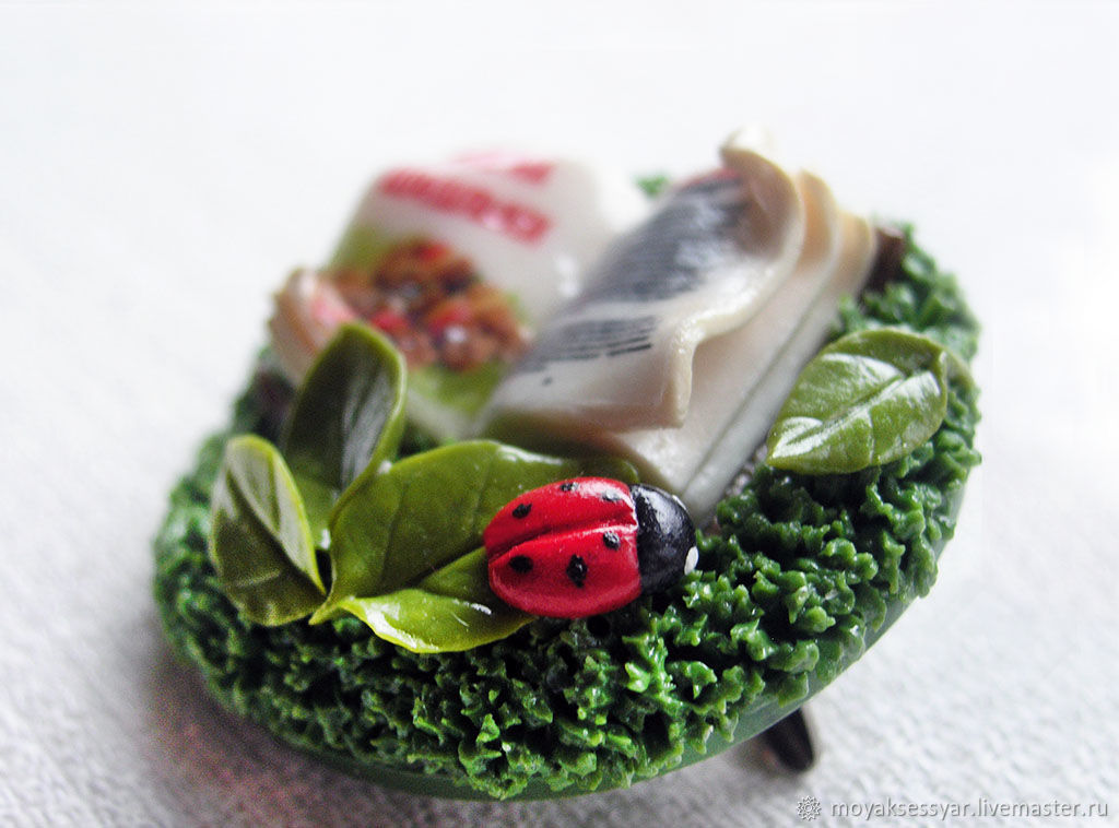 "Брошь ""Пикник на лужайке"", Броши, Москва, Фото №1"