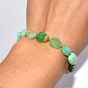 Украшения handmade. Livemaster - original item Bracelet made of natural chrysoprase. Handmade.