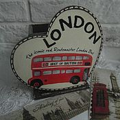 "Канцелярские товары ручной работы. Ярмарка Мастеров - ручная работа Карандашница ""LONDON"". Handmade."