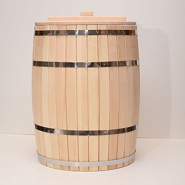 Для дома и интерьера ручной работы. Ярмарка Мастеров - ручная работа Бочка деревянная 200 литров для воды. Бочка для бани. Handmade.