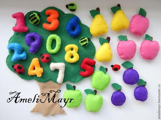 """Еда ручной работы. Ярмарка Мастеров - ручная работа. Купить Развивающая игрушка """"Дерево"""" (с кнопками). Handmade. Комбинированный"""