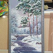 Картины и панно ручной работы. Ярмарка Мастеров - ручная работа Картина рисованная маслом Природа, в багете 85х35см. Handmade.