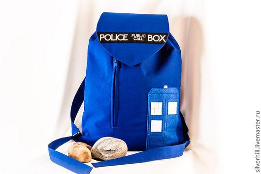 """Рюкзаки ручной работы. Ярмарка Мастеров - ручная работа. Купить Рюкзак """"Тардис XI"""". Handmade. Рюкзак, рюкзак для девочки, габардин"""