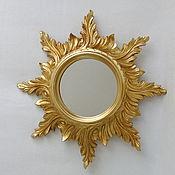 Для дома и интерьера ручной работы. Ярмарка Мастеров - ручная работа Зеркало настенное cолнце. Handmade.
