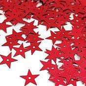 Материалы для творчества handmade. Livemaster - original item Sprocket sequins silver and red 13mm. Handmade.