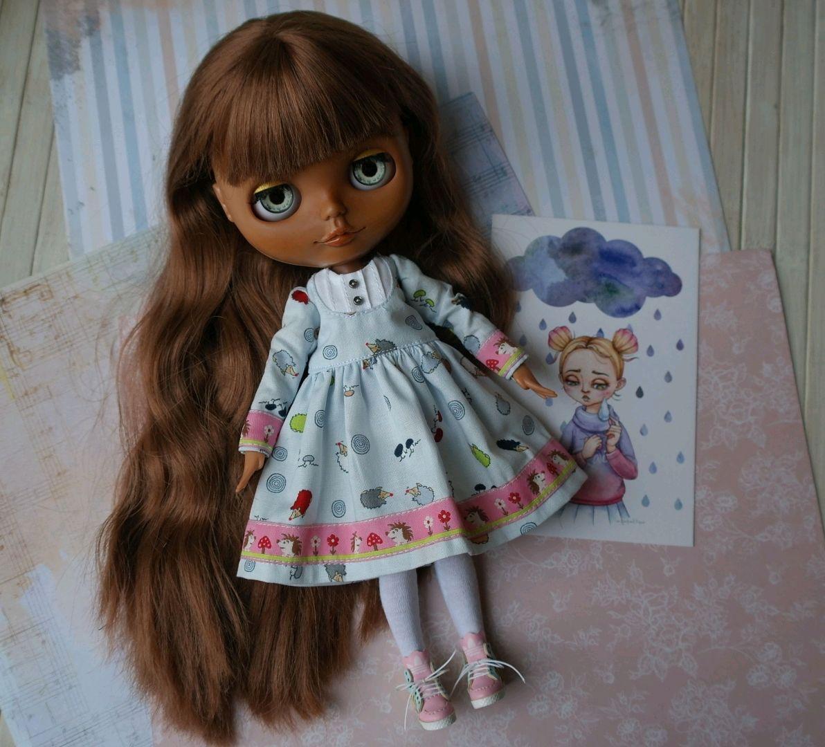 Платье для блайз. Одежда для кукол. Аутфит. Outfit for Blythe dolls, Одежда для кукол, Зеленоград, Фото №1