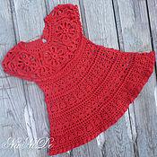 Работы для детей, ручной работы. Ярмарка Мастеров - ручная работа Платье Красный цветок. Handmade.