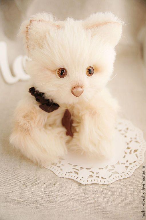 Мишки Тедди ручной работы. Ярмарка Мастеров - ручная работа. Купить Котик Руни. Handmade. Бежевый, авторская ручная работа