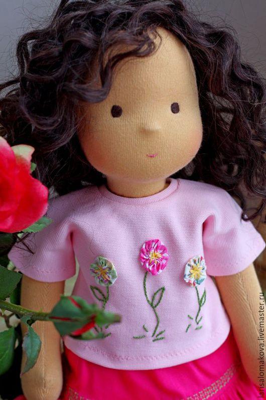"""Вальдорфская игрушка ручной работы. Ярмарка Мастеров - ручная работа. Купить вальдорфская кукла  """"Симона"""" 36см. Handmade. Вальдорфская кукла"""