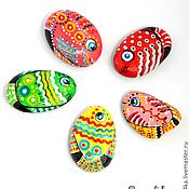 """Сувениры и подарки ручной работы. Ярмарка Мастеров - ручная работа """"Рыбки"""" камушки-магниты. Handmade."""
