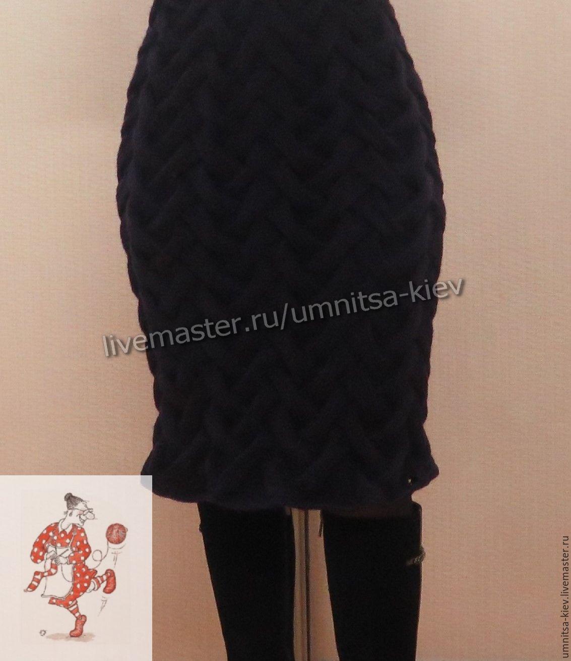 Шапка черная с косами  Вязание  сайт о вязании спицами и