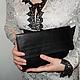 Женские сумки ручной работы. Ярмарка Мастеров - ручная работа. Купить Черный клатч. Handmade. Черный, клатч, классический кошелек